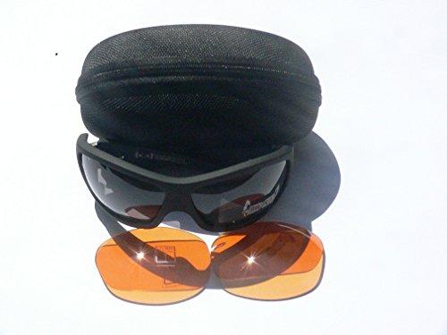 Gloryfy G3 devil Set unbreakable Sonnenbrille (Farbe: schwarz rot matt, anthracite f3 plus orange f1 Wechselgläser)