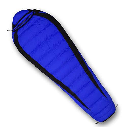 TAHRH ultraleichter Schlafsack,Camping Schlafsack, wasserdicht Daunen, Erwachsene Vier Jahreszeiten Wandern Camping zur Verfügung @ 1200g_White_Goose_down_Blue -