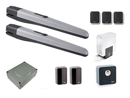 Nice-Toona-Full-Kit-2-X-TO4024-motores-3-X-ON2E-transmisor-MC824H-central-De-Mando-con-receptor-OXI-enchufable-EPMB-par-de-fotoclulas-EKS-selector-de-llave-ELDC-Luz-intermitente-TS-Signboard-para-puer