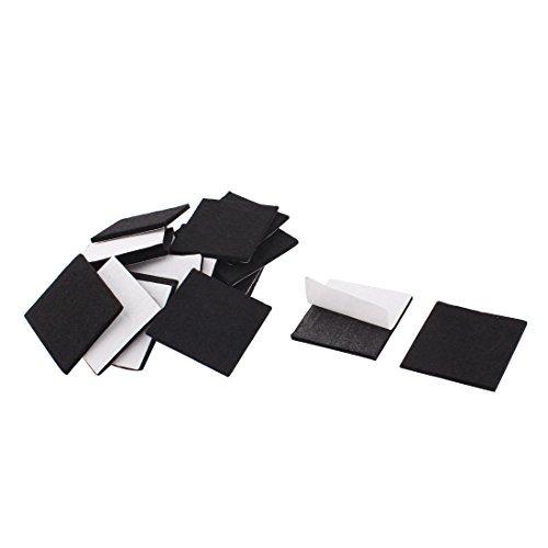 DealMux Maison Voiture Stick protéger protecter Meuble Felt Coussins Pad Mats 40 mm x 40 mm 20pcs Noir