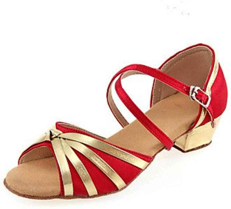 KYDJ Chaussures Chaussures KYDJ de Danse(Noir Bleu Rouge) -Non Personnalisables-Talon Bottier-Tissu-LatinesB072NZ7JPPParent 74761a