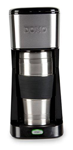 Kaffeemaschine für 400ml Kaffee ToGo im Thermobecher DOMO DO437K schwarz - 2