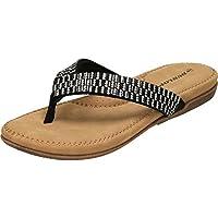 0dee6a7b777 Dunlop Lucia Womens Ladies Flat Sandals Black - Black - UK Size 5