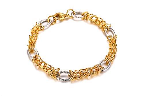 Anyeda Herren Gold Silber Armbänder Edelstahl Armbänder Jamaika Wia Kette