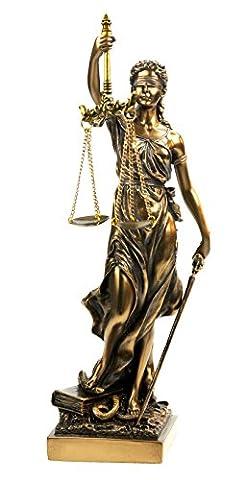 Justitia Figur bronziert,Skulptur,römische Götter 33 (Fusioni Freddo Bronzo)