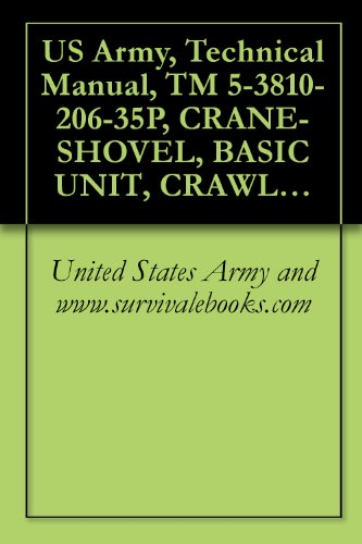 US Army, Technical Manual, TM 5-3810-206-35P, CRANE-SHOVEL, BASIC UNIT, CRAWLER MTD., 40-TON, 2 CU YD, DIESEL DRIVEN (HARNISCHFEGER ENGINE MODEL 678- (W/CATERPILLER ... (NSN 3810-00-606-8569) (English Edition) -
