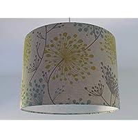Handmade Oatmeal Teal Mustard Grey Dandelion Clocks Flowers Lampshade Ceiling Lightshade