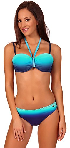 aQuarilla Damen Bikini Set 71H191 (Navy/Blau, 40)