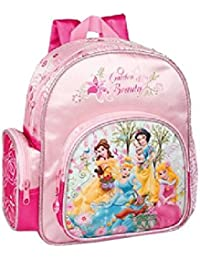 052888764 Princesse - Mochila escolar (altura 28 cm), diseño de princesas Disney