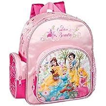 Princesse - Mochila escolar (altura 28 cm), diseño de princesas Disney