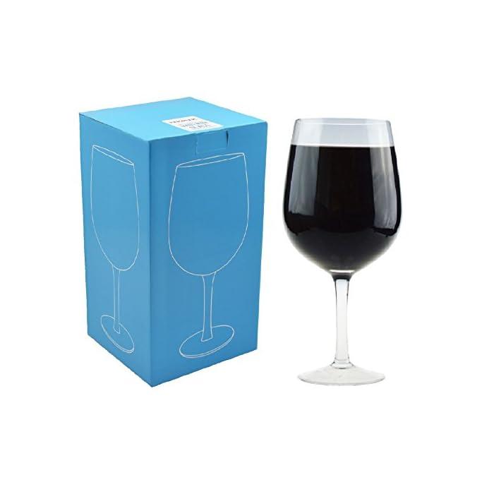 Riesiges Weinglas für Partys - Geschenkkarton - 750 ml (für eine ganze Weinflasche)