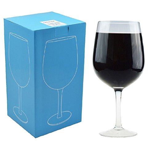 Rink Drink Riesen Wein Party Glas - Geschenkkarton - 750ml (1 ganze Flasche Wein)