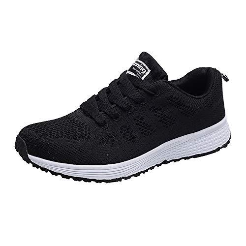 Dorical Damen Ultra Leichte Laufschuhe/Traillaufschuhe Sneaker Turnschuhe Atmungsaktive Fitness Rutschfeste Sportschuhe/Freizeitschuhe Mädchen Junge Schuhe Bequem Sommerschuhe (Schwarz,37 EU)