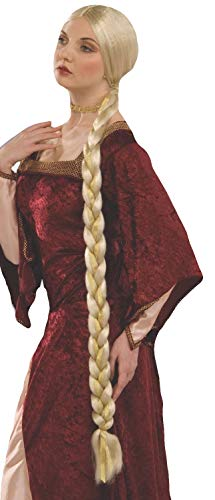 Unbekannt Forum Novelties - PE160 - Perücke, Prinzessin, Lange geflochten, - Kostüm Medievale Femme