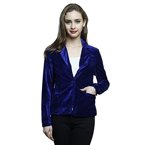 Maham Royal Blue Velvet Blazer  available at amazon for Rs.629