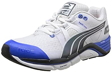 Puma Faas 1000 V1 5 - Chaussures de Running - Homme - Blanc (White/Red/Blue) - 40 EU (6.5 UK)