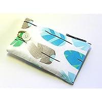 Handytasche aus Stoff - FEDERN - mit Knopf für SAMSUNG Galaxy S9+ , S8+ , A6+ und A8+ ( Plus ) - gepolsterte Handyhülle - Handy-Tasche / Handy-Hülle - Smartphonetasche / Smartphonehülle - Geschenk Weihnachten Geburtstag Muttertag Valentinstag - cotton case / sleeve