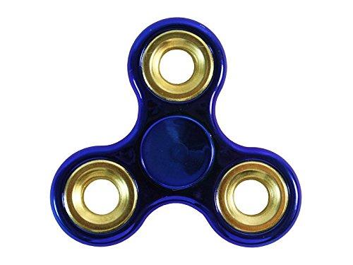 Oriental eLife Fidget Spinner, Tri-Spinner EDC fuoco giocattolo mano filatore - mitigatori di stress per ADD, ADHD allevia lo stress, l'autismo e l'ansia e Relax per bambini e adulti (Lega 1# - blu)