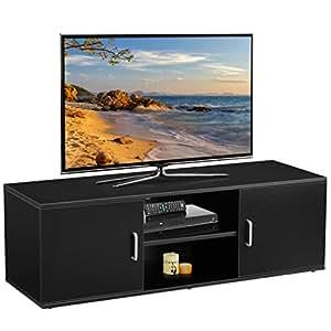 f1b496894541 LANGRIA TV Stand with 2 Doors, 2-Tier Open Shelf and: Amazon.co.uk ...