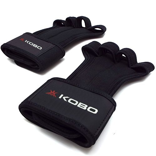 Kobo WTG-18 Professional Best Gymnastic Hand Grips / Cross Fitness Gloves for Pull Ups / Gym Gloves For Fitness / Functional Training Hand Protector