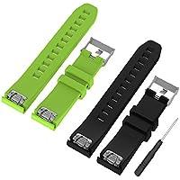 WEINISITE 22 mm Silicone Adjustable Replacement Strap Bracelet for Garmin Fenix 5/ Approach S60 Golf/ for Garmin Forerunner 935/ Quatix 5 GPS Watch
