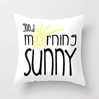 SQBZ Couverture Jaune de Coussin de Peau de pêche de Polyester de Style Jaune Tissu Doux, taie d'oreiller décorative à la Maison Simple et brève 45 * 45cm, YPSPC017-45x45cm-2znr