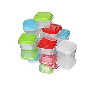 ARSUK Frischhaltedosen Klick-it, Luftdichte Aufbewahrungsboxen 28 Teile Geeignet für Mikrowelle  Kunststoff-Bpa Frei