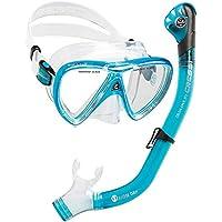 Cressi Ikarus & Orion Dry Kits máscara Tubo, Adultos Unisex, Transparente/Azul Claro