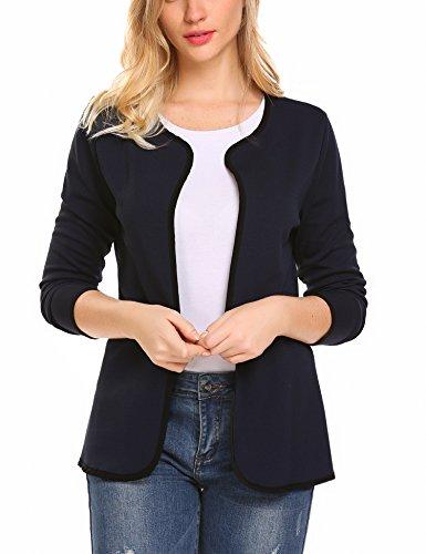 Parabler Damen Herbst Strickjacke Cardigan Blazer Jacke Mantel Pullover Tops Abbildung 3