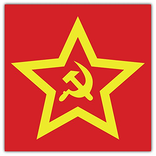 Soviet Sign Symbol Bumper Sticker Vinyl Art Decal for Car Truck Van Wall Window (24 X 24 cm) - Wall Bumper
