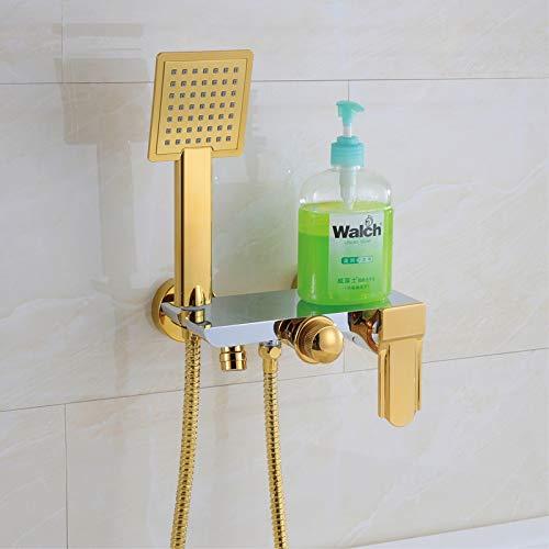 2017 großhandel Luxus Elegantes Design Einzigartige Form Chrom/Schwarz/Weiß/Goldene Wand Badewanne Wasserhahn mit Handbrause, Multi