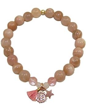 samaki - Mondstein Armband Harmonie, Glückskind Talisman Schmuck