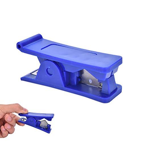 Hose Cutter - Popular Rubber Silicone Pvc Pu Nylon Plastic Tube Pipe Hose Cutter Cut Up Scissors 12mm Blue 1pcs - Automotive Plastic Cutter Scissors Heavy Lisle Gates Braided Pliers Rubbe -