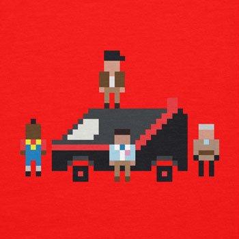 NERDO - The Pixel Team - Damen T-Shirt Rot