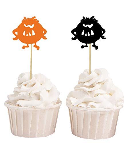 Darling Souvenir, Halloween Monster Cupcake Toppers, Geburtstagsfeier Dessert Dekorationen - Packung von 20