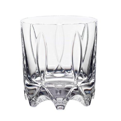 Whiskeyglas, Whiskeybecher, Whiskystamper GERMAN ROULETTE - STUTTGART 225ml, transparent, Rotation, Bleikristall Glas (German Crystal powered by CRISTALICA)