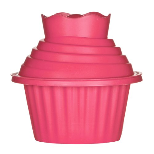 Premier Housewares Cupcake-Form, 3-teilig, Silikon, riesig, 18 x 19 x 19 cm, Hot Pink