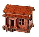 Habba-Babba DIY Holzhaus 3D Puzzle Bausatz– Pädagogisches Holzspielzeug zur Förderung der Koordination, Natur / Set ab 3 Jahre für die frühe Motorik Entwicklung & Ausbildung Ihres Kindes