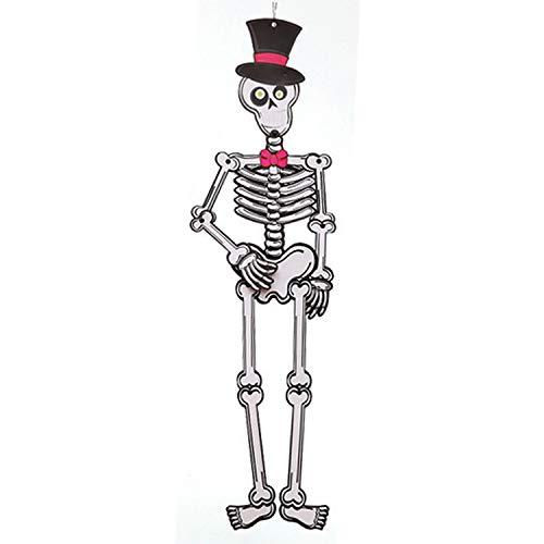 Halloween festa fai da te carta 3d ciondolo giocattolo forniture decorazione puntelli per bambini porta giardino cappello scheletro