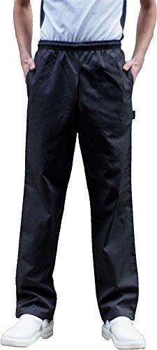 Denny-Uniforme da adulti, Unisex, elastico in vita, Pantaloni Pantaloni da Chef, motivo: scacchi