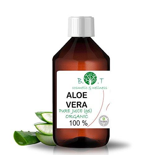 100% Pure Jus (Gel) d'Aloe Vera Organique (liquide, sans épaississants) (250 ml) Jus