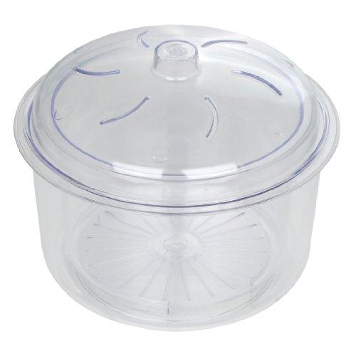Dexam 17840347 – Cocedor de arroz y verduras para microondas (2,3l, 3 piezas, incluye cesta y tapa), color transparente
