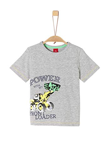 s.Oliver Jungen 64.906.32.5677 T-Shirt, Grau (Grey Melange 9400), 104/110 (Herstellergröße: 104/110/REG)