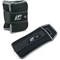 RitFit Pesos para tobillo/muñeca, 1 par, con correa totalmente ajustable para el brazo, la mano y las piernas, lo mejor para caminar, correr, gimnasia o aeróbicos