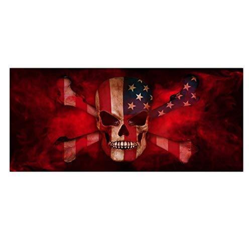 ForceSthrength Amerikanische Flagge Smog Kopfhaut Karte Kofferraum Auto Aufkleber Fenster Grafik Print Aufkleber Multicolor (Multicolor Amerikanische Flagge)