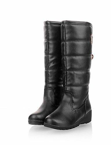 ShangYi Mode Frauen Schuhe Damenschuhe Stiefel Mode Plattform / Outdoor / Büro & Karriere / Casual Keilabsatz OthersBlack &668 Schwarz