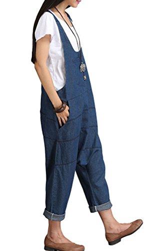 Vogstyle Damen Hosenträger Spielanzug Harem Jumpsuit Hosen Art 1 Blau