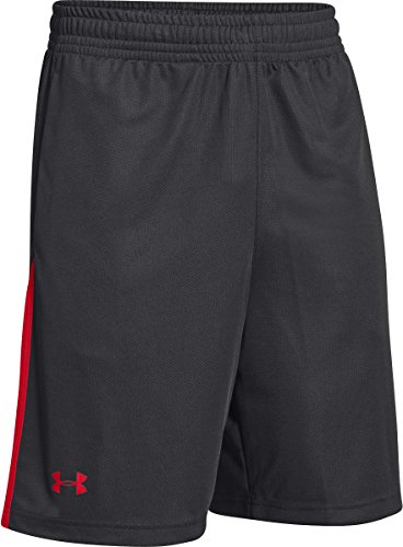 Under Armour Herren Hose ASSIST Athletic kurz Basketball Training Shorts 1259074 Small schwarz / rot (Herren Hose Under Team Armour)
