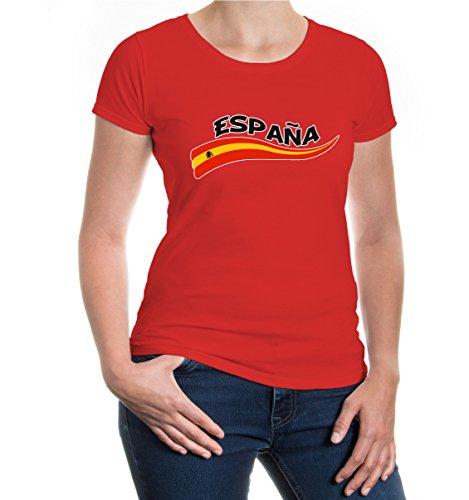 buXsbaum® Girlie T-Shirt Spanien-Wave Red-z-direct