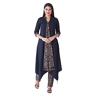 KHUSHAL Women's Cotton Salwar Suit Set